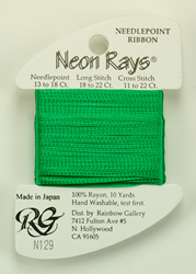 Neon Rays Lite Christmas Green - Rainbow Gallery
