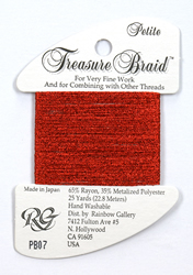 Petite Treasure Braid Red - Rainbow Gallery