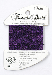 Petite Treasure Braid Purple - Rainbow Gallery