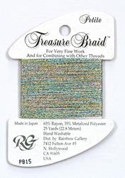 Petite Treasure Braid Confetti Blue - Rainbow Gallery