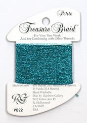 Petite Treasure Braid Aqua Marine - Rainbow Gallery