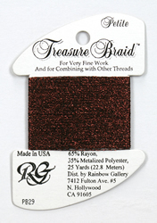 Petite Treasure Braid Burgundy - Rainbow Gallery