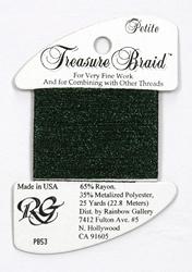 Petite Treasure Braid Midnight Green - Rainbow Gallery