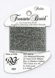 Petite Treasure Braid Black Silver - Rainbow Gallery