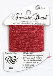 Petite Treasure Braid Raspberry - Rainbow Gallery