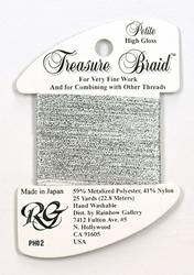 Petite Treasure Braid High Gloss Silver - Rainbow Gallery