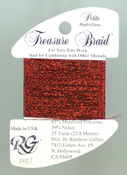 Petite Treasure Braid High Gloss Christmas Red - Rainbow Gallery