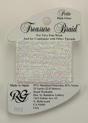 Petite Treasure Braid High Gloss White Pearl - Rainbow Gallery