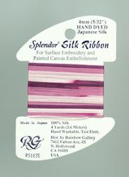 Splendor Silk Ribbon Medium Plum - Rainbow Gallery