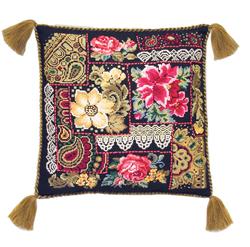 Cross Stitch Kit The Flower Composition Cushion - RIOLIS
