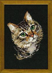Cross Stitch Kit Grey Cat - RIOLIS