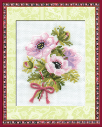 Cross Stitch Kit Anemones - RIOLIS