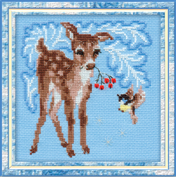 Cross Stitch Kit Young Deer - RIOLIS