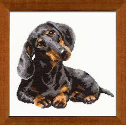 Borduurpakket Badger Dog - RIOLIS