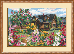 Cross Stitch Kit Flowering Garden - RIOLIS
