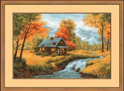 Cross Stitch Kit Autumnal View - RIOLIS