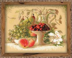Borduurpakket Still Life with Sweet Cherries - RIOLIS
