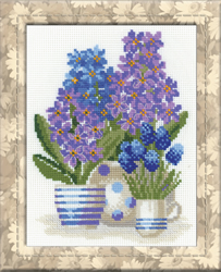 Cross Stitch Kit Hyacinths - RIOLIS