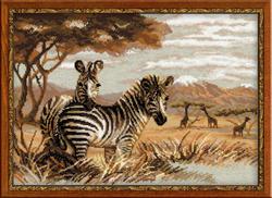 Cross Stitch Kit Zebras in the Savannah - RIOLIS