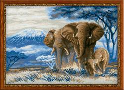 Borduurpakket Elephants in the Savanahh - RIOLIS