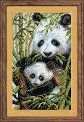 Borduurpakket Panda with Young - RIOLIS