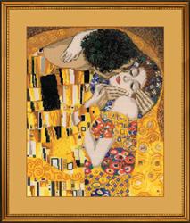 Cross Stitch Kit The Kiss, Klimt - RIOLIS