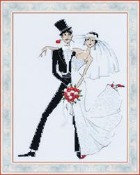 Cross Stitch Kit Wedding Tango - RIOLIS