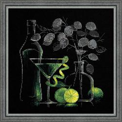 Cross Stitch Kit Still Life with Martini - RIOLIS