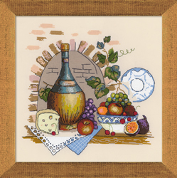 Cross Stitch Kit Still Life with Cheese - RIOLIS