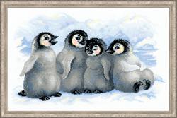 Borduurpakket Funny Penguins - RIOLIS