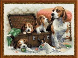 Borduurpakket Canine Family - RIOLIS