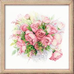 Borduurpakket Watercolor Roses - RIOLIS