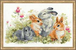 Cross Stitch Kit Funny Rabbits - RIOLIS