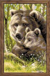 Borduurpakket Bear with Cub - RIOLIS