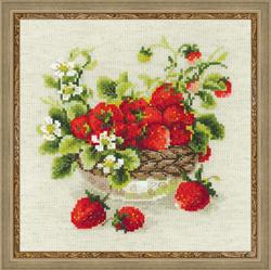 Borduurpakket Garden Strawberry - RIOLIS