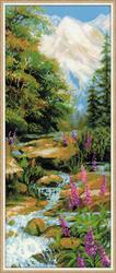Borduurpakket Mountain River - RIOLIS