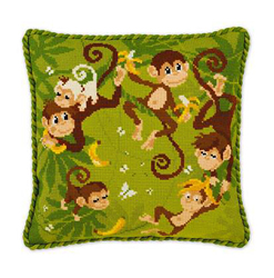 Borduurpakket Jungle Cushion - RIOLIS