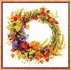 Borduurpakket Wreath with Weath - RIOLIS