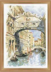 Cross Stitch Kit Venice. Bridge of Sighs - RIOLIS