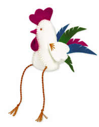 Cross Stitch Kit Rooster Figure - RIOLIS