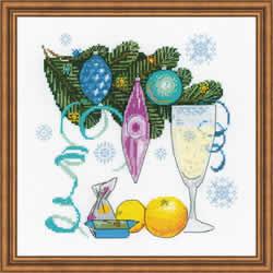 Cross stitch kit Happy New Year! - RIOLIS