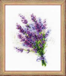 Borduurpakket Bouquet with Lavender - RIOLIS