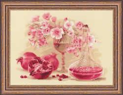 Borduurpakket Pink Pomegranate - RIOLIS