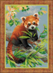 Borduurpakket Red Panda - RIOLIS