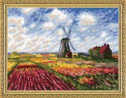 Borduurpakket Tulip Fields after C. Monet's Painting - RIOLIS