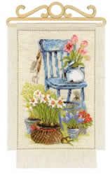 Cross stitch kit Cottage Garden - Spring - RIOLIS