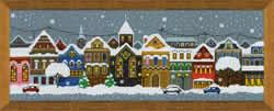 Borduurpakket Christmas City - RIOLIS