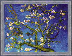 Cross stitch kit Almond Blossom after V. van Gogh's Painting - Borduurpakket