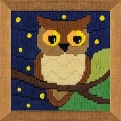 Borduurpakket Owl Among the Stars - RIOLIS