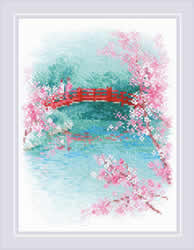 Borduurpakket Sakura - Bridge - RIOLIS